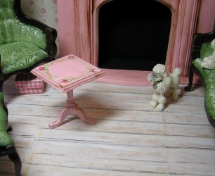 Side Table square pink antique